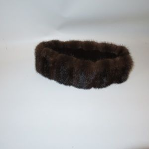 BARBATSULY FURS MINK HEAD WARMER HEADBAND *